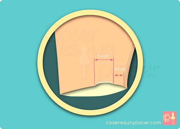 Remate de una manga de camisa sin corte de la obertura